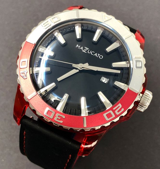 Mazzucato - Ego Tistic Red Customisable with Three Straps and Three Cases - E.G.O.001BLACK - Άνδρες - Brand New