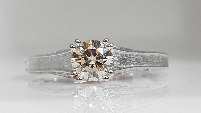 18 karaat Witgoud - Ring - 0.51 ct Diamant - Geen reserve VVS2