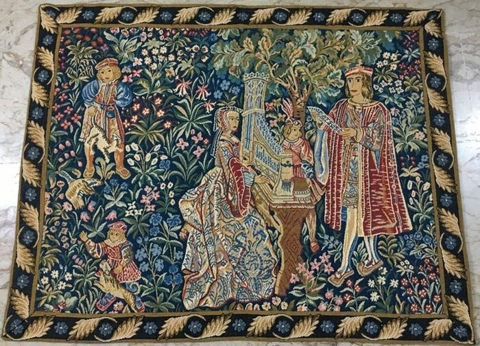Vintage French Tapestry - Tapestry - Medieval Style - Cotton