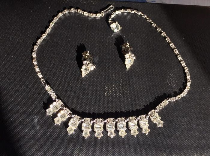 Bogoff Silver plate Imitation diamonds crystals - Earrings, Necklace Imitation diamonds