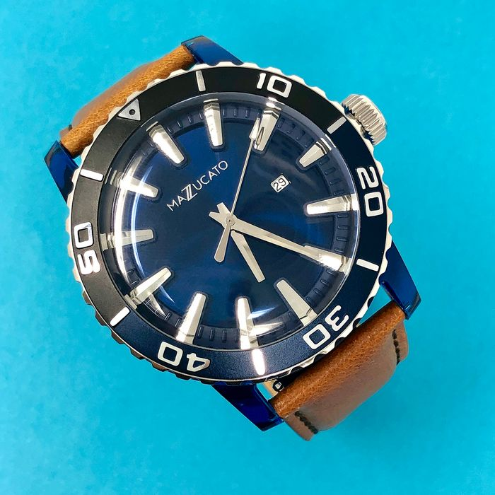"""Mazzucato - Ego Centric Blue Customisable with Three Straps and Three Cases - E.G.O.004BLACKBLUE """"NO RESERVE PRICE"""" - Herren - Brand New"""