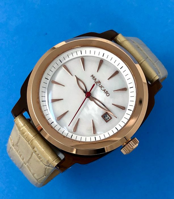 Mazzucato - Ego Tistic Rose Gold Mother of Pearl Dial Customisable with Three Straps and Three Cases - E.G.O.003MOPGOLD - Women - Brand New