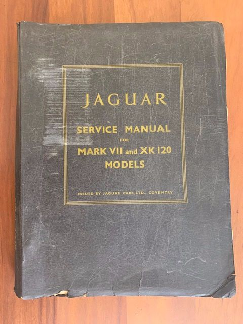 Books - Jaguar - Jaguar Service Manual Mark VII and XK120 models - 1949-1954