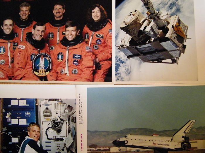 Space shuttle mission STS-66 - Astronauts investigate atmosphere. Five NASA photos - Kodak Photo Paper