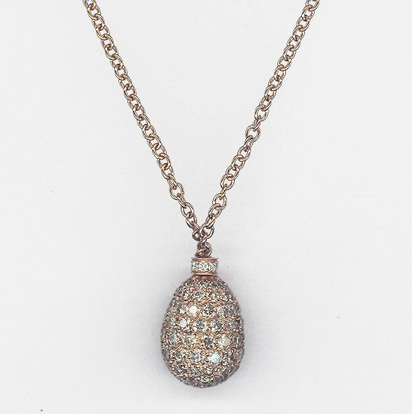 Leo Pizzo - 18 kt. Pink gold - Necklace with pendant - 2.47 ct Brown diamonds