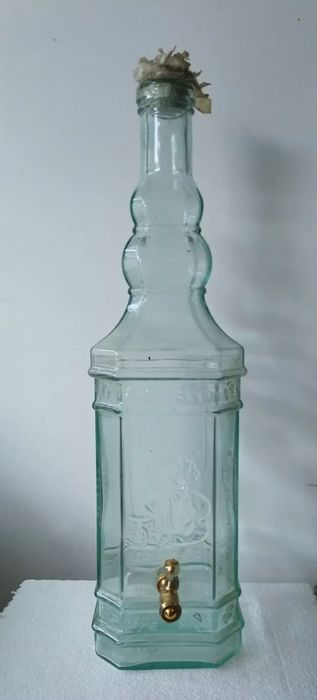 Antique Wine Container with Dispenser (1) - Glass