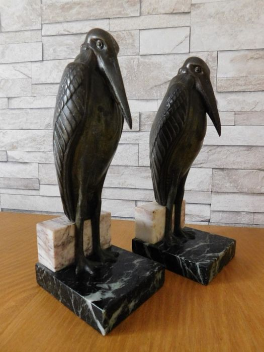 Louis Carvin - bookends 'Marabout'