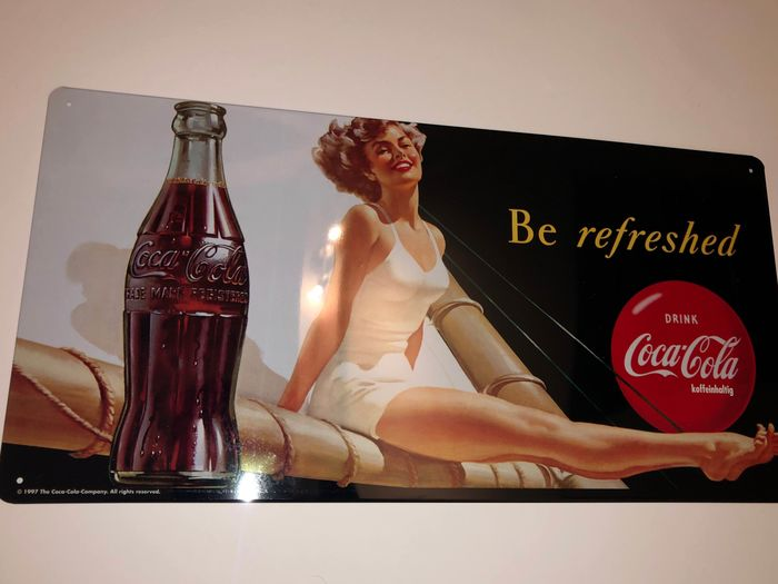 Coca-Cola - Rare Coca-Cola advertisement - Be Refreshed - 1997 - Metal sign (1) - Aluminium