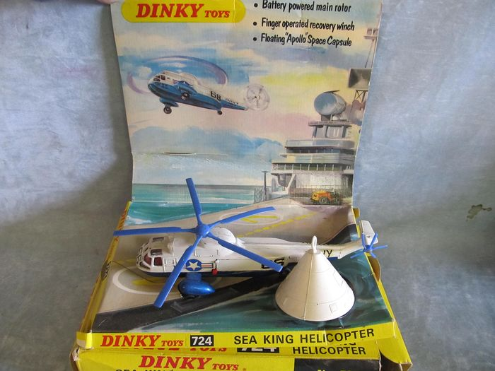 Dinky Toys - 1960/1970's model - Original Mint with box model. Sea King Helicopter - Dinky número 724