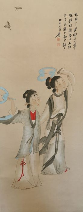 Hanging scroll - Rice paper - In the style of Zhang Daqian - China - Second half 20th century