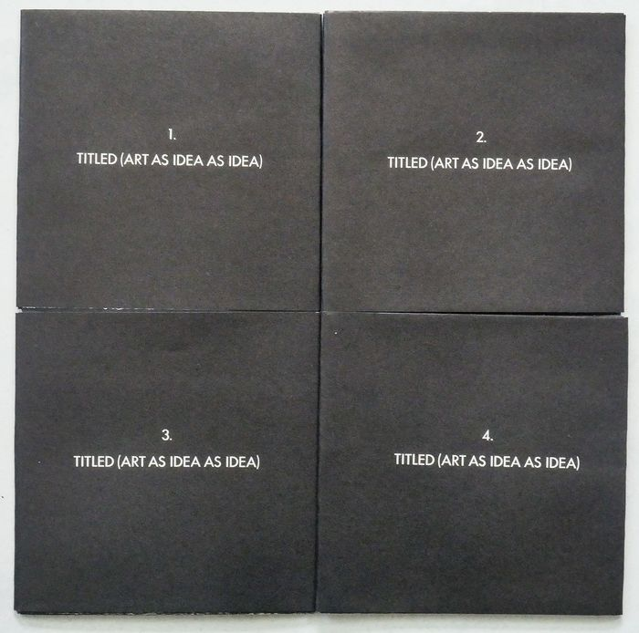 Joseph Kosuth - Four Titled Abstracts