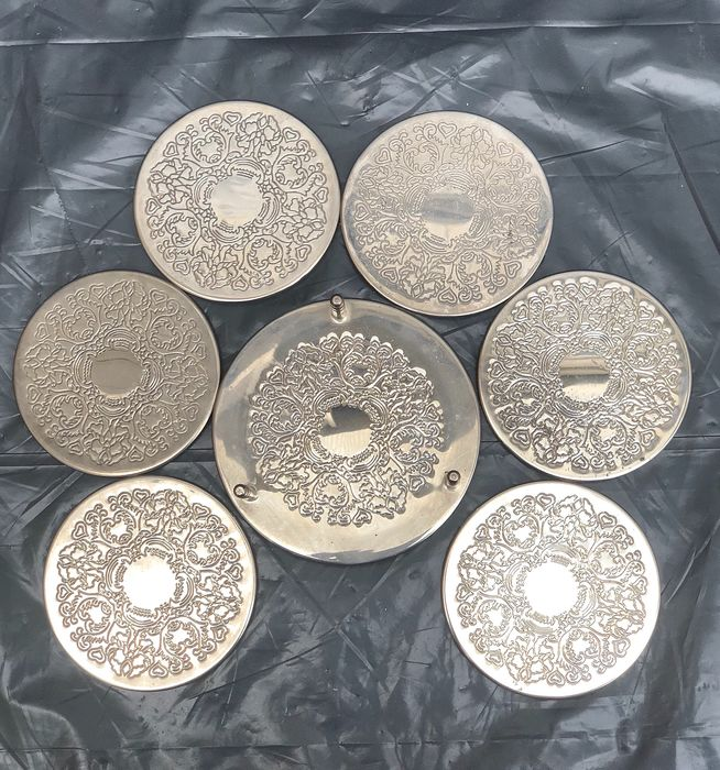 Coasters Set - Silverplate