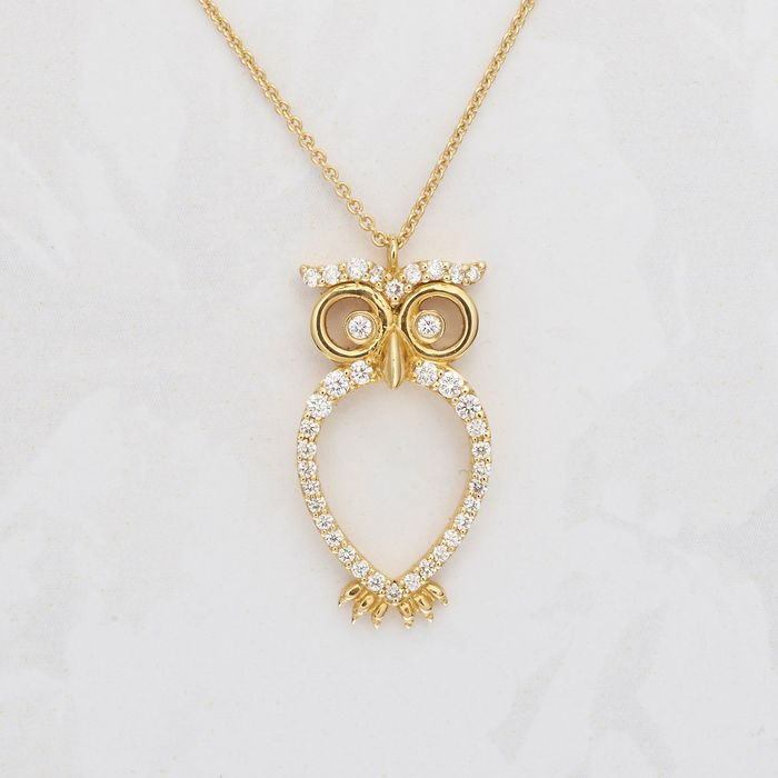 Leo Pizzo - 18 kt. Yellow gold - Necklace with pendant - 0.26 ct Diamond
