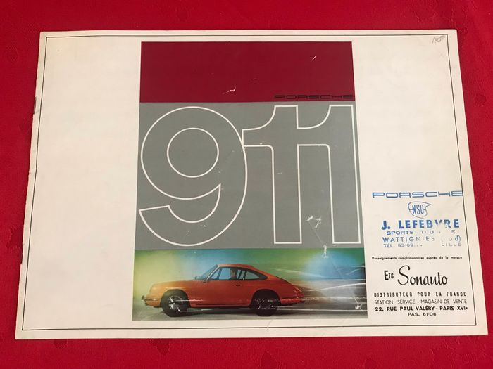 Brochures / Catalogues - Porsche - Porsche 911 2.0 brochure French Sonauto - ‎1964-‎1965