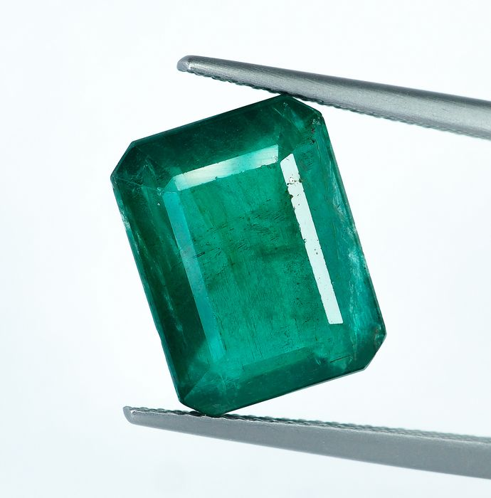 No Reserve - Green Emerald - 8.37 ct