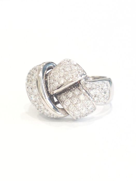 Damiani - 18 kt. White gold - Ring - Diamonds