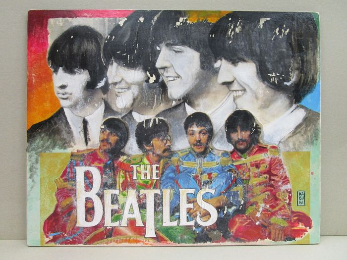"Beatles - Multiple artists - ""The Beatles: The Legendary Band"" - Artwork/ Painting - 2019"