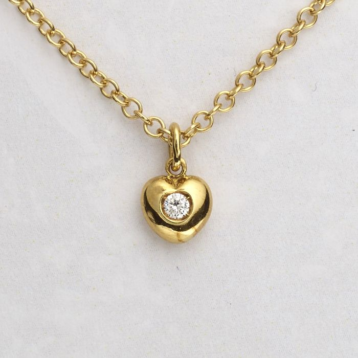Leo Pizzo - 18 kt. Yellow gold - Necklace with pendant - 0.05 ct Diamond