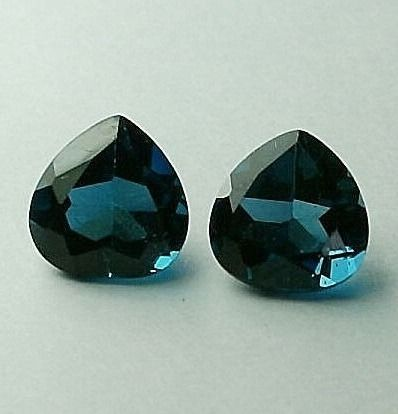 2 pcs London Blue Topaz - 3.52 ct