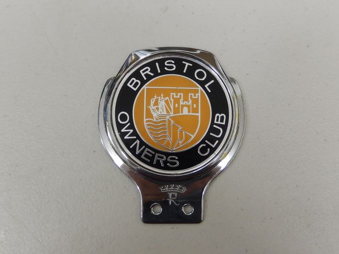 Badge - Chrome Renamel Bristol Owners Club Car Badge Auto Emblem - 1970-1980