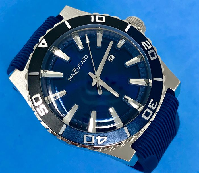 Mazzucato - Ego Centric Blue Customisable with Three Straps and Three Cases - E.G.O.004BLACKBLUE - Mænd - Brand New