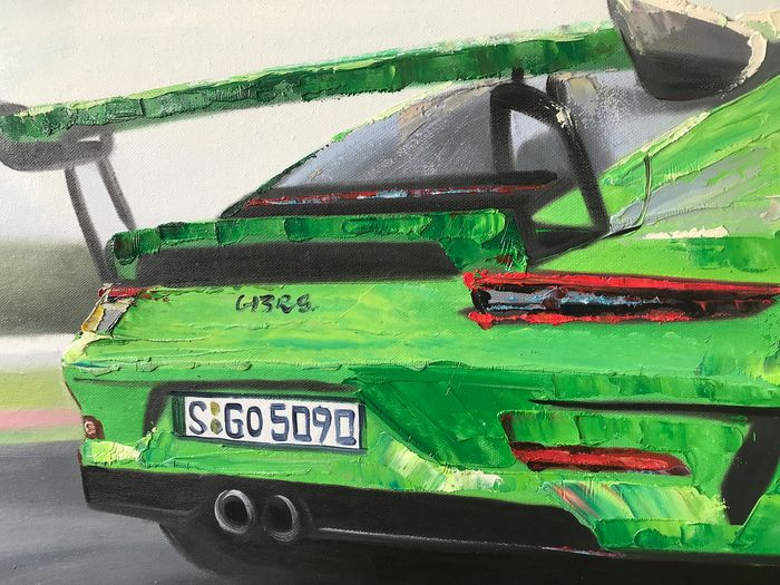 Art / artwork - Painting - Porsche 911 Carrera GT3 RS  painting - 2019