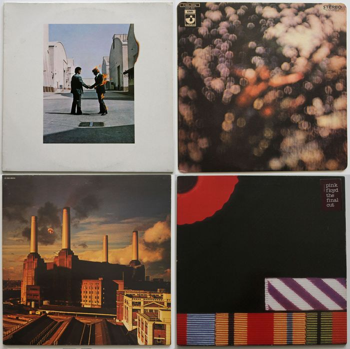 Pink Floyd - Wish You Were Here, Obscured By Clouds, Animals, The Final Cut - Diverse titels - LP's - 1975/1983