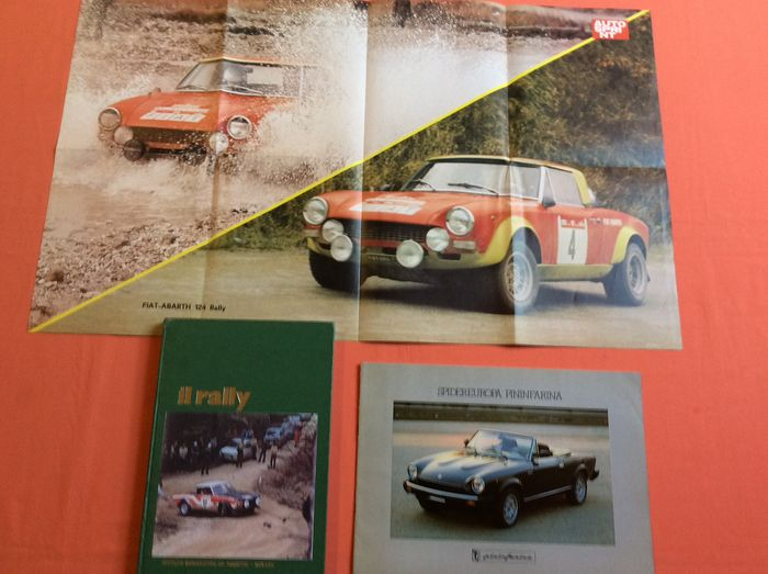 Abarth 124 spider brochure and poster - Abarth - Official Abarth 124 spider poster and official brochure - 1975-1982