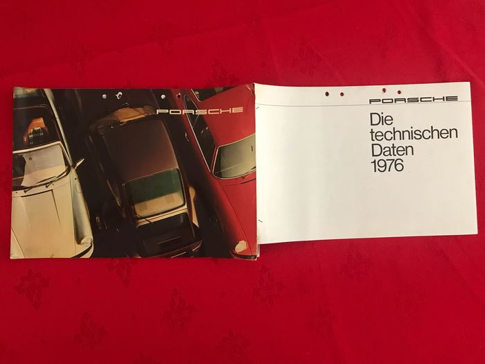 Brochures / Catalogues - Porsche - Porsche 911 2.7 S 3.0 Carrera + Turbo large size brochure + technische daten - ‎1976-‎1975