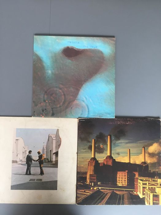 Pink Floyd - Animals, Meddle, Wish you were here - Différents titres - LP's - 1971/1977