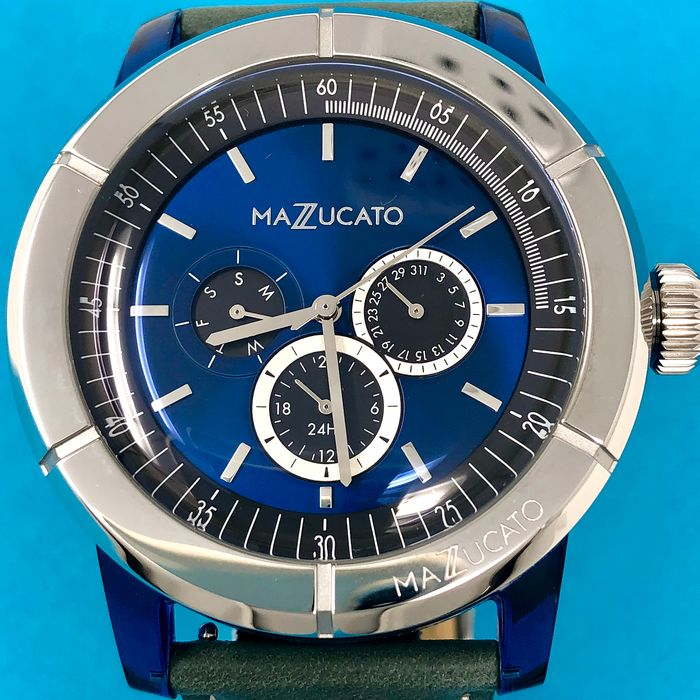 Mazzucato - Ego Super Ego Blue Calendar Customisable with Three Straps and Three Cases - E.G.O.002BLUE - Hombre - Brand New