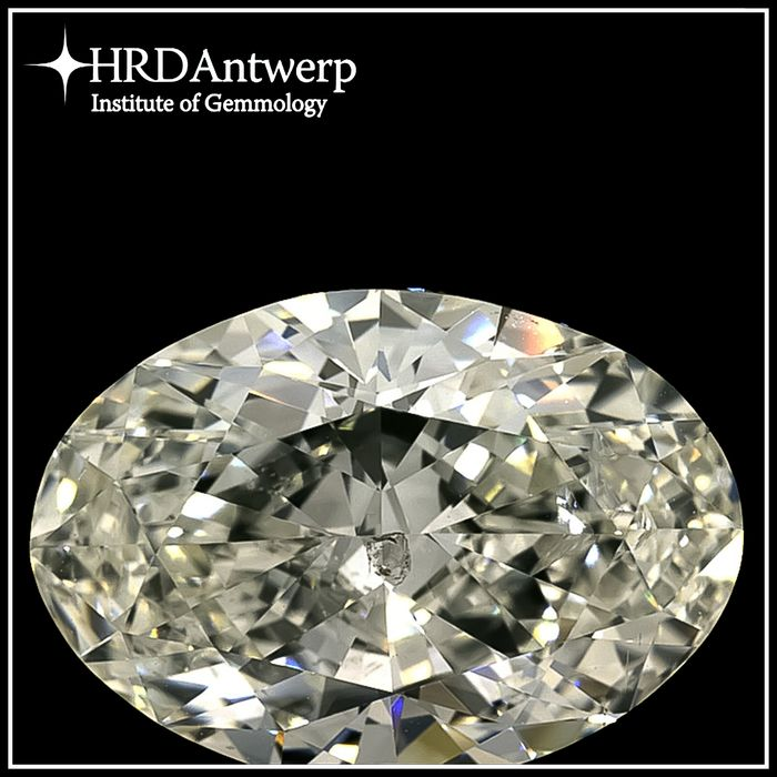 Diamante - 5.02 ct - Ovalado - I - SI2, HRD