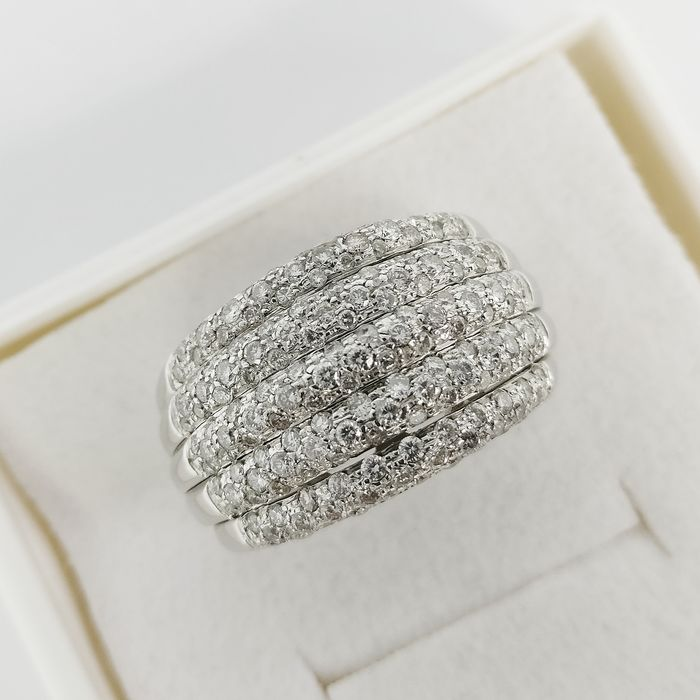 18 kt. White gold - Ring - 1.45 ct Diamond