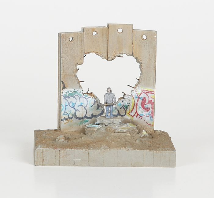 Banksy - 'Defeated' Wall Section (Broken Heart)
