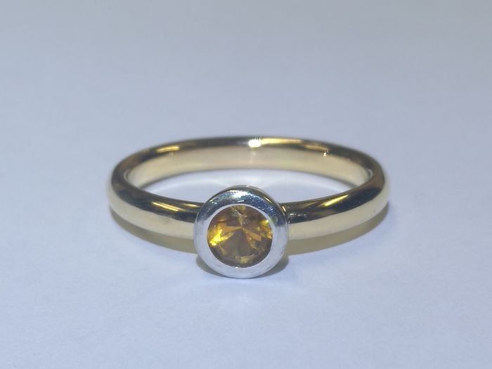 18 kt. Yellow gold - Ring Citrine