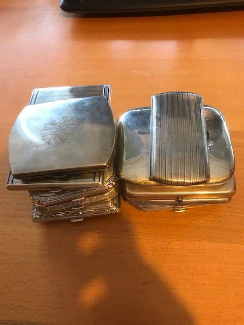 Cigarette case (10) - .800 silver - Germany - Early 20th century