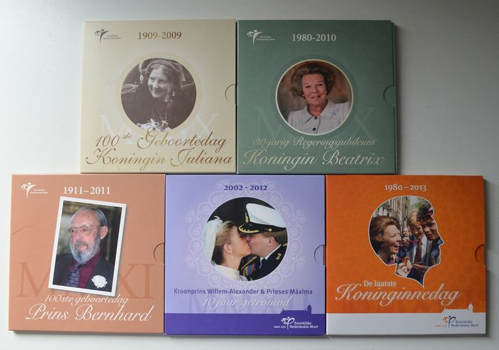 The Netherlands - Themasets KNM 2009 t/m 2013 (5 stuks)