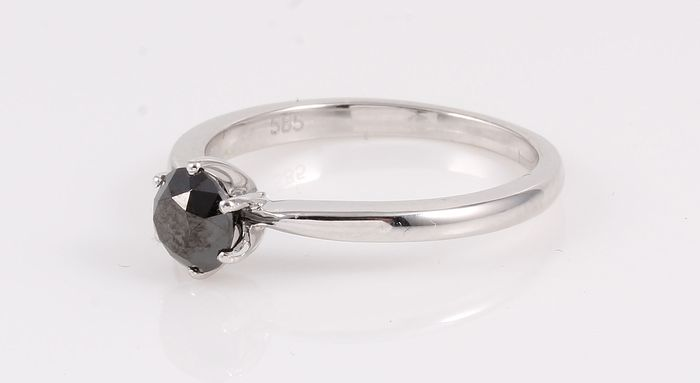 14 kt. White gold - Ring 0.99 ct Diamond