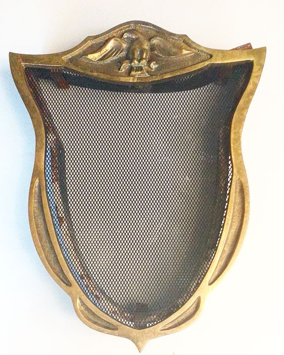 Antique large sieve window with eagle (1) - Brass, metal