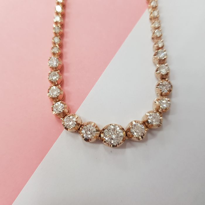 14 carats Or - Collier Diamant