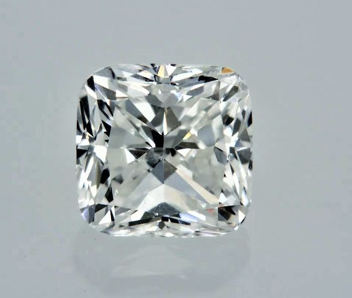 1 pcs Diamante - 0.90 ct - Cojín - D (incoloro) - VS2
