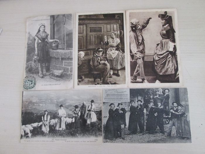 Algeria, Belgium, Canada, France, Germany, Italy, Monaco, Morocco, Spain, Switzerland, Tunisia - Europe, Fantasy, Folklore, Maritime, Military, Ships - Postcards (Set of 102) - 1920