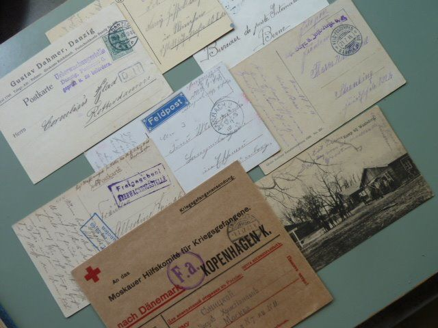 Europa 1914/1918 - WW I - Picture postcards - Letters - Distribution coupons