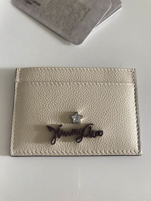 Jimmy Choo - Aries Linen  Cardholder - No minimum price