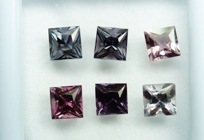 6 pcs  Spinelle - 4.02 ct