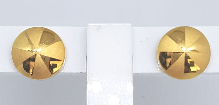 18 kt. Yellow gold - Earrings