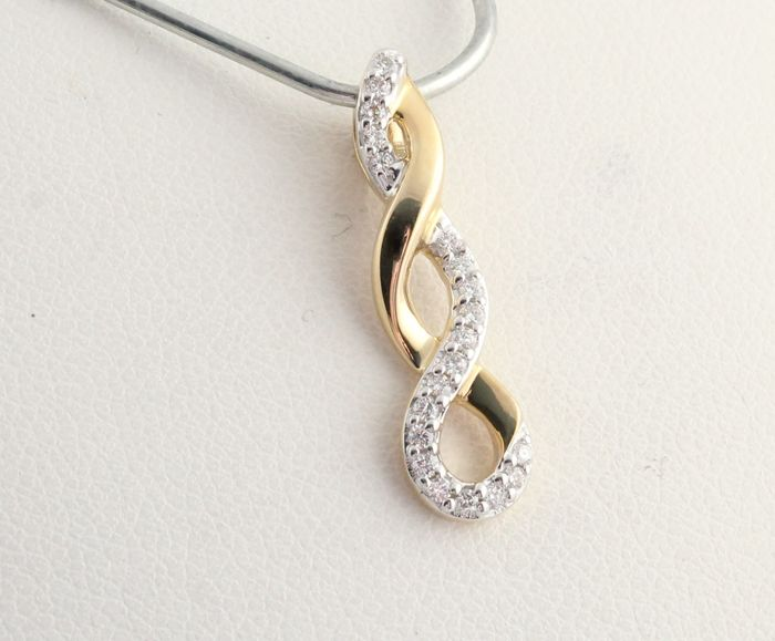 14 kt. Yellow gold - Pendant - 0.15 ct Diamond