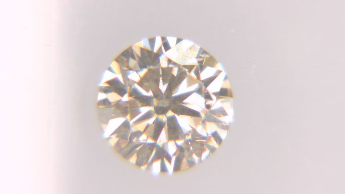 1 pcs Diamante - 0.32 ct - Redondo - fancy light yellowish brown - SI2, No Reserve Price!