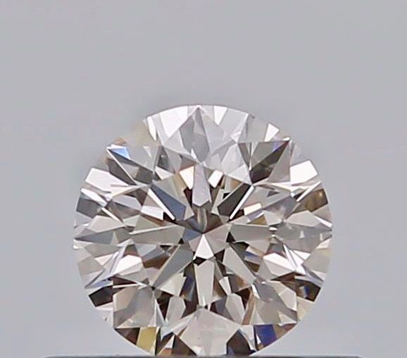 1 pcs Diamond - 0.32 ct - Round - faint pinkish brown - SI1, ***no reserve***