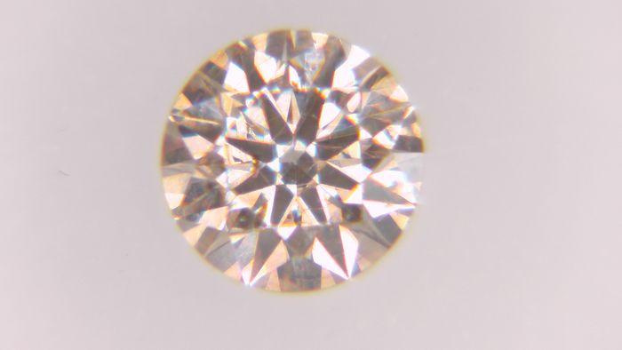 1 pcs Diamond - 0.26 ct - Round - fancy pinkish brown - SI2, No Reserve Price!